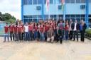 Alunos da escola estadual Aristeu Bicho participam da sessão ordinária na Câmara de Manicoré