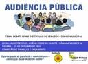 Audiência Pública debate Estatuto dos Servidores Públicos Municipais no Auditório da Câmara de Manicoré nesta quinta (15)