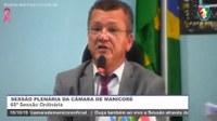 Augusto Vieira faz um resumo da sessão e homenageia professores que passaram pela Câmara