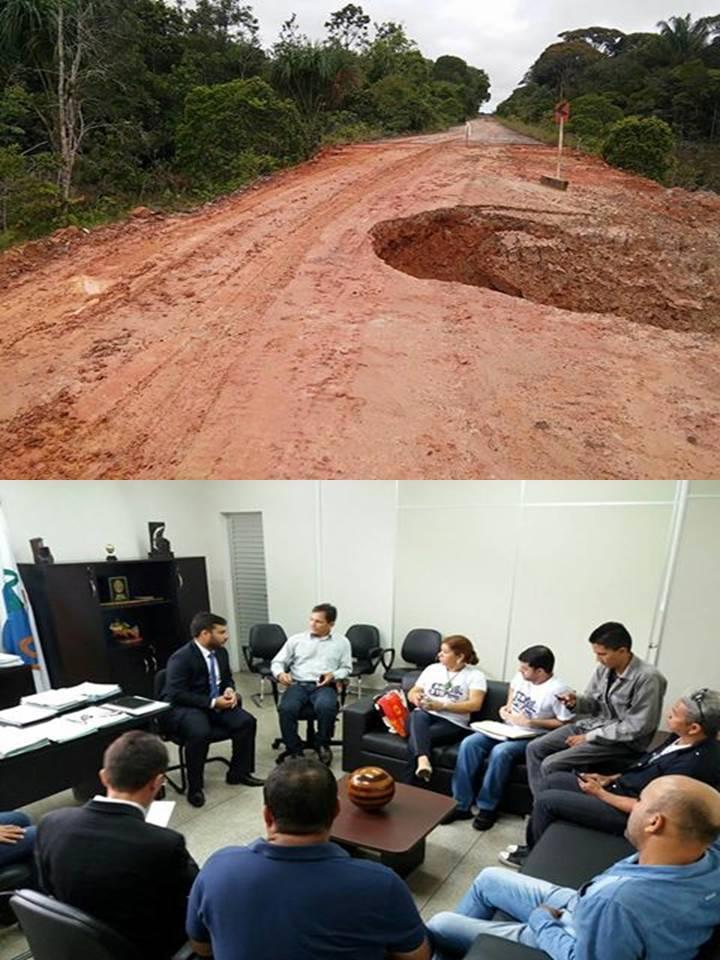 PRESIDENTE DA CÂMARA E VEREADOR MICHEL PARTICIPAM DA REUNIÃO NO IBAMA SOBRE AS DIFICULDADES DA BR 319.
