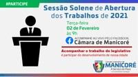 Sessão Solene marca abertura dos Trabalho Legislativos da Câmara de Manicoré