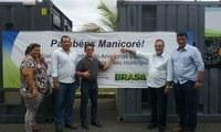 Vereadores acompanham entrega de Grupos Geradores para Manicoré, juntamente com Ministro Eduardo Braga