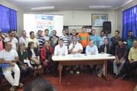 Vereadores participam do lançamento do projeto das contruções das escadas na zona rural